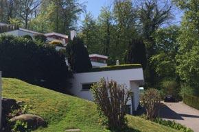 Aussenreinigung Terrassenüberbaung, Wollerau SZ