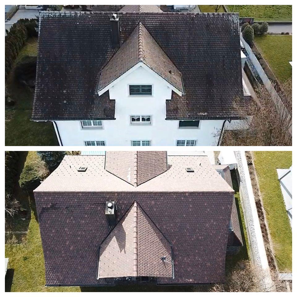 Wie kann man Dachziegel reinigen