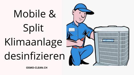 Mobile oder Split Klimaanlage desinfizieren