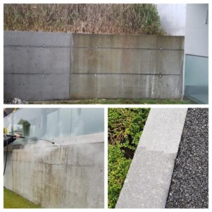 natursteinmauer reinigen