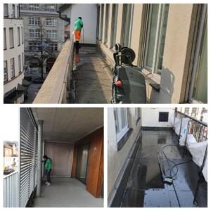 balkon betonboden reinigen