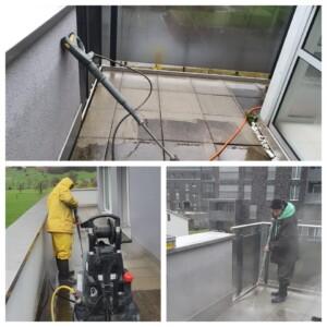 balkon reinigen