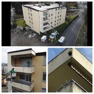 balkon von außen reinigen